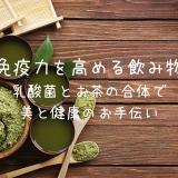 【免疫力を高める飲み物】乳酸菌とお茶の合体で美と健康のお手伝い